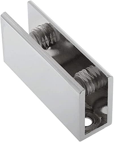 GZcaiyun - 4 soportes para cristal, aleación de aluminio, abrazadera de cristal,...