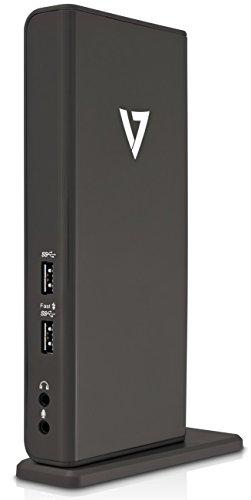V7 Universal USB 3.0 Docking Station (HDMI, DVI, 2x USB 3.0, 4x USB 2.0, Gigabit Ethernet RJ45, Audio)