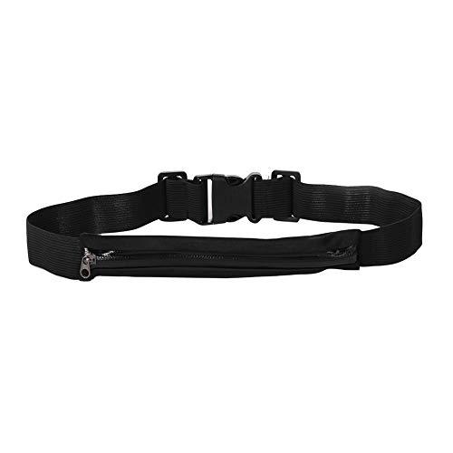 carduran Unisex Running Pouch Belt, Elastic Belt Waist Bag Phone Pouch Fanny Pack for Outdoor Sports Black Double Bag