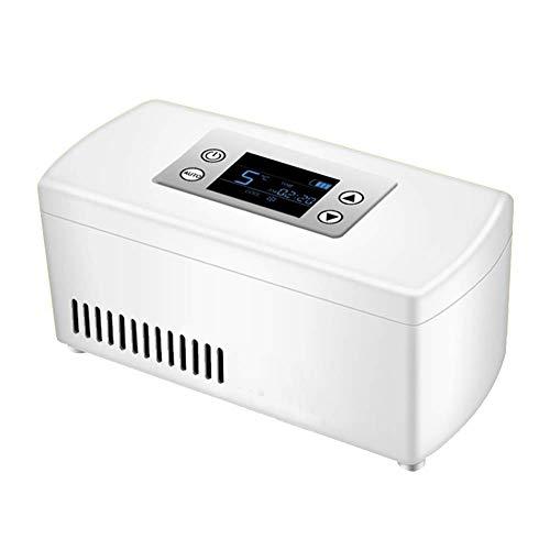 ZXL Portaghiaccio,Scatola refrigerata del Dispositivo di Raffreddamento Portatile dell'insulina, Cassa del Dispositivo di Raffreddamento dell'insulina dell'esposizione dell'affissione a cristall