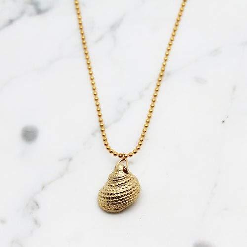 Gold Schnecke Halskette