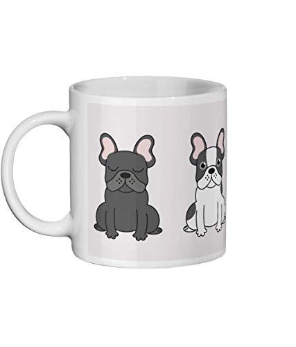 Lplpol Taza con diseño de bulldog francés, diseño de perro francés, con texto en inglés 'Frenchie', con animales, regalos de Navidad, regalos de cumpleaños, taza de té y café