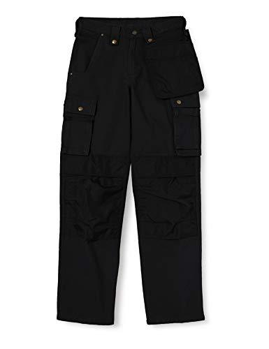 Carhartt Multi Pocket Washed Duck Pant Work Utility Pants, Nero, 34W x 34L Uomo
