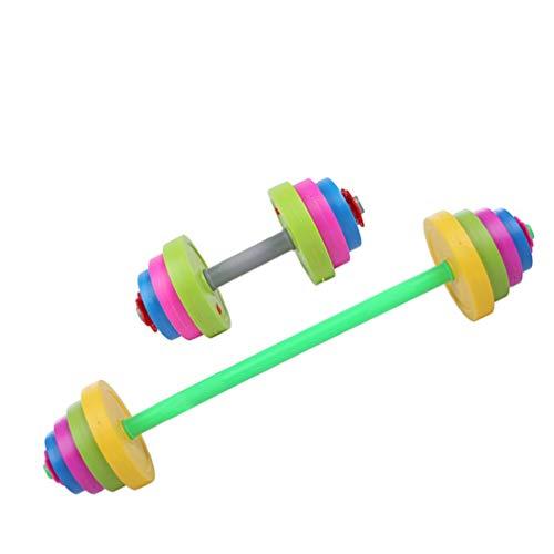 WINOMO 11 Stück Kinder Langhantel Verstellbare Hantel Spielzeug So Tun Als Ob Workout-Set für Kinder Fitnessgeräte Trainingsarm Training Muskel für Kinder