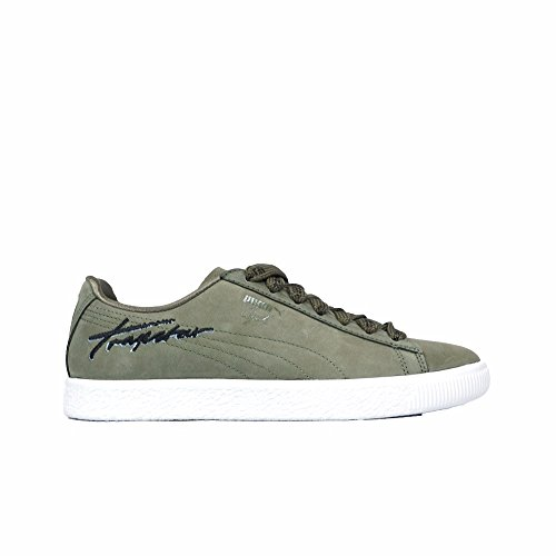 PUMA Men's X Trapstar Clyde Bold Burnt Olive Athletic Shoe
