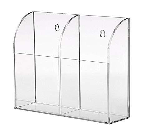 Lamavido® Supporto del telecomando, Telecomando montaggio a parete, trasparente acrilico Storage Box
