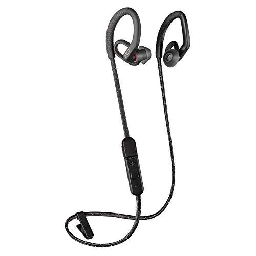 Plantronics BackBeat Fit 350 Bluetooth Auricular Deportivo, En la Oreja, Negro-Gris, Uni