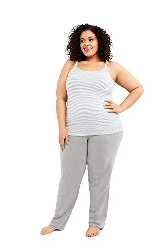 Motherhood Maternity Women's Maternity Full Length Sleep Knit Pants, Grey, Large