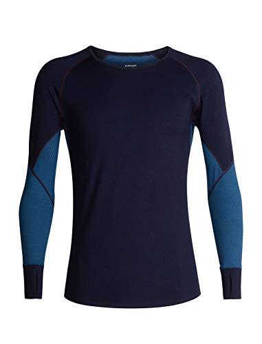 Icebreaker 260 Zone Ls Crewe T-Shirt Fonctionnel pour Homme XL Bleu Marine/Bleu de Prusse.