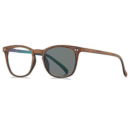 Transition Presbyopic Uv400 Gafas De Sol, Imitación De Madera, Lentes Fotocromáticas Gafas De Lectura Gafas Ópticas Con Dioptrías