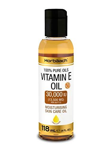 Vitamin E Oil 30 000 IU | 4 fl oz | Triple Strength | Free from Parabens, SLS | Cruelty Free | by Horbaach