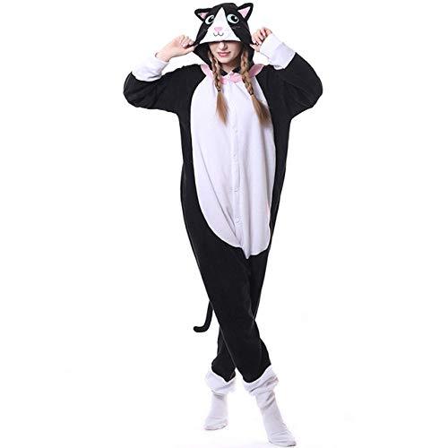 JBDGNZ Pijama de Lana Polar para Mujer, Pijama de Anime de Dibujos Animados, Mono de Oso Animal para Mujer, Adulto, con Capucha, Elegante, Verde, Largo para Dormir, Gris, L