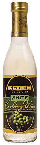 Kedem White Cooking Wine, 12.7oz Bottle, Gluten Free, Kosher