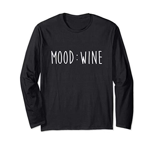 Regalo Mood Wine para amantes del vino Manga Larga