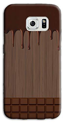 Mixroom - Cover Custodia Case in TPU Silicone Morbida per Samsung Galaxy S6 Edge M733 Tavoletta di Cioccolata Sciolta