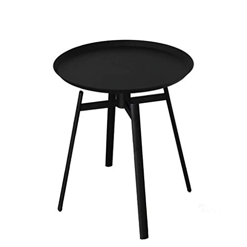 GUONING-L Nordic Style Coffee Table Wrought Iron Painted Mini Coffee Table Round Simple Modern