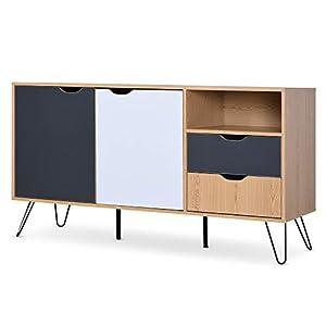 HOMCOM Sideboard Table Cabinet with Storage 2 Drawers Cabinet Bedroom Storage Furniture