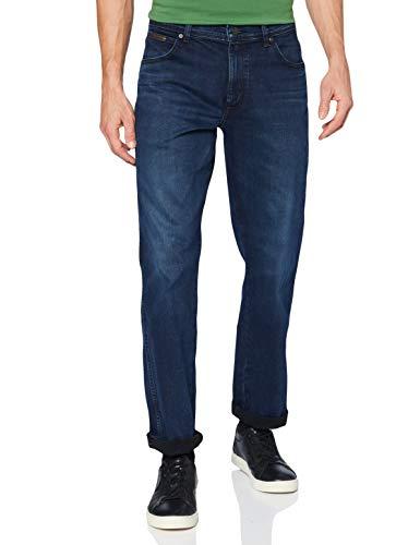 Wrangler Texas Contrast Hombre Jeans, Cepillado, 42W / 32L
