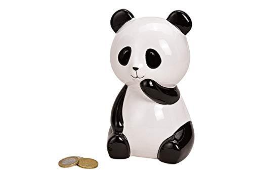 Wurm wunderschöne Spardose,Sparbüchse Panda Bär aus Keramik weiß, schwarz