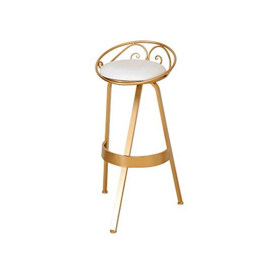 IJzeren barkruk/tafelset, stijlvolle hoge kruk 30 inch, 360 ° draaiende stoel lederen kussen, gebogen pedaal ontwerp hoge lading, woondecoratie