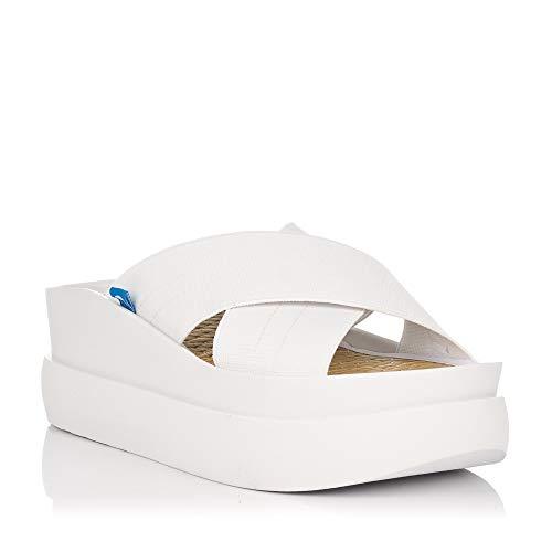 Sandalias de Plataforma Mustang Kaiteki Blancas