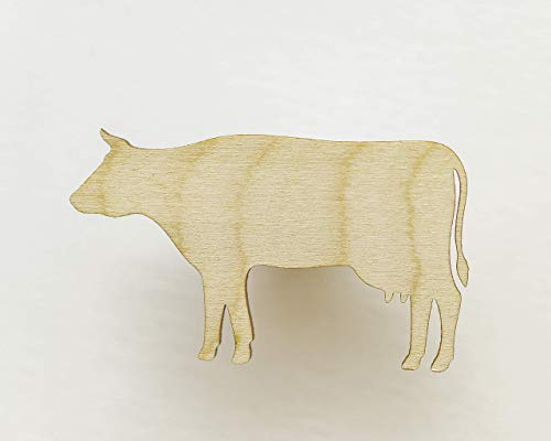 Unfinished wood shapes - Cow shape  Cow cut out  Farm animal wooden cutouts