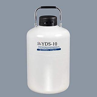 yds-10L contenedor nitrogeno líquido portatil aluminio 10 litros tanque de nitrogeno liquido criogénico con 6 Botes y Bols...