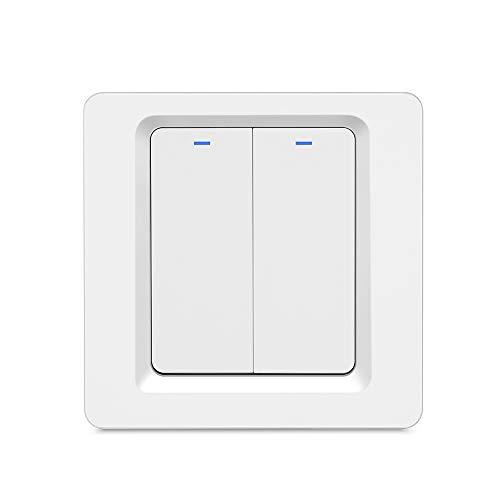 OWSOO Zigbee Interruptor de Luz de Pared, Control Remoto de la Aplicación Smart Life/Tuya, Compatible con Alexa Google Home para Control de Voz, Pulsador de Luz Pared