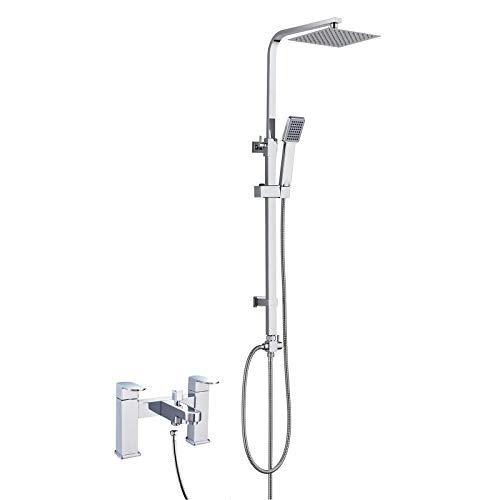 Grifo mezclador de ducha cuadrado moderno con 3...