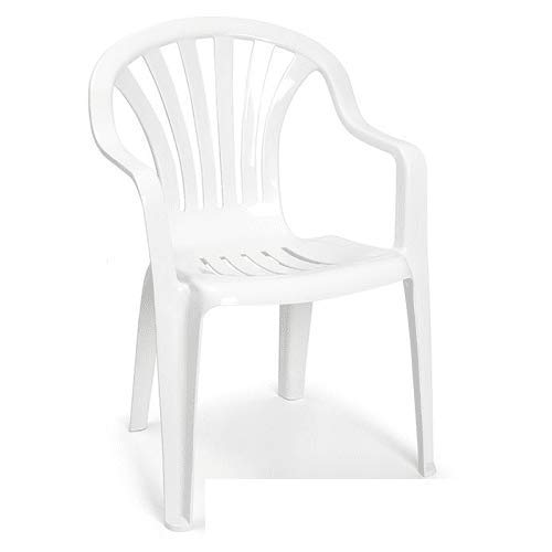 CABLEPELADO Silla plastico apilable Modelo 2 Blanco
