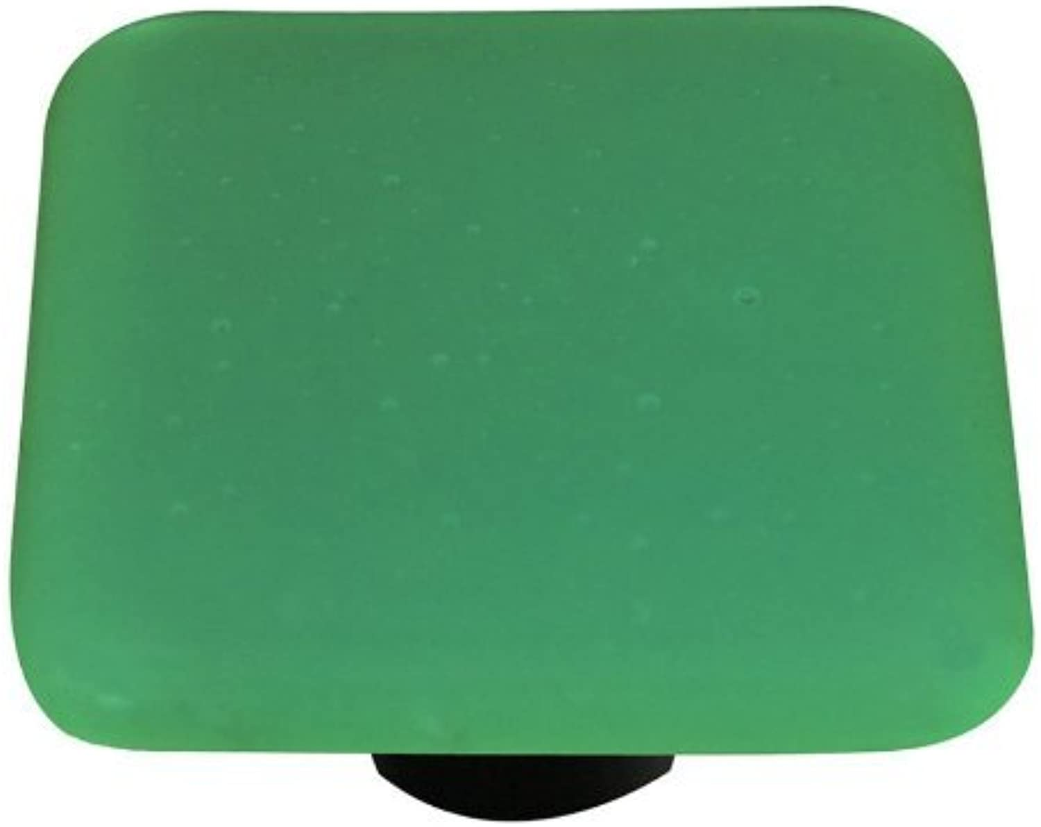 Hot Knobs HK9053-KA Opaline Jade Green Square Glass Cabinet Knob - Aluminum Post