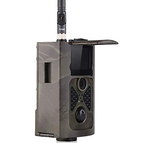 2G Wildkamera Fotofalle,GSM MMS Bewegungsmelder 940Nm Nachtsicht Infrarot 1080P 16MP Jagdkamera,Handyübertragung Beutekameras,Mit 2,0LCD-Display Wasserdichte Überwachungskamera Mit 16G Speicherkarte