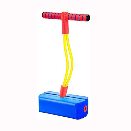 Pogo - Bastón de salto de espuma para niños, palo de resorte Pogo Pogo con alta elasticidad y juguetes antideslizantes/regalos (color: azul)