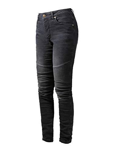 John Doe Betty Biker Jeans Black Used XTM | Motorradhose mit Kevlar | XTM Made with Dupont Kevlar | Einsetzbare Protektoren | Atmungsaktiv | Motorrad Jeans | Denim Jeans mit Stretch
