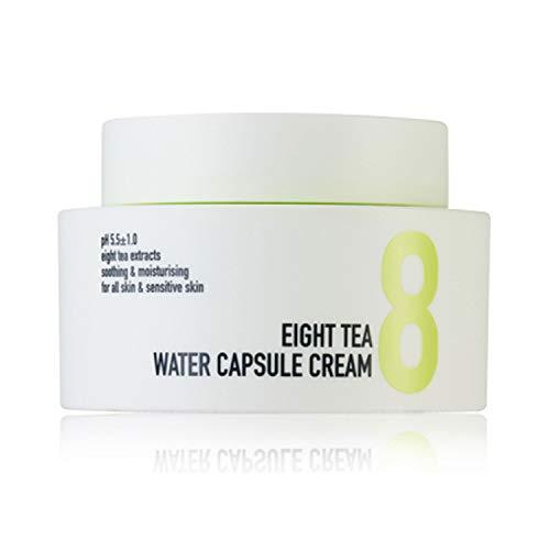 BOM Eight Tea Water Capsule Crema hidratante diaria con ceramida, pantenol y vitamina C 50g, 1,76 oz