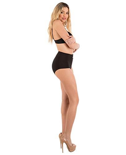 Barbra Lingerie Women's 6 Pack Travel Zipper Pocket Panties (Medium)