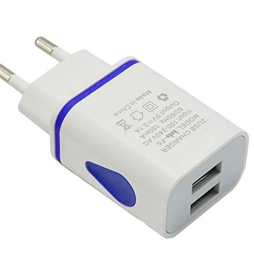 Demino USB Wall Charger Dual Port 2A Ausgangs Spielraum-Stecker-Adapter kompatibel für Telefon-EU-Stecker