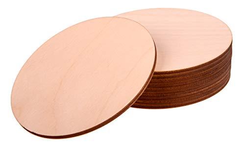 ProArts - Set di 10 sottobicchieri in legno di betulla per bevande, sottobicchieri da tè, sottobicchieri riutilizzabili, 10 pezzi, 10 x 10 cm