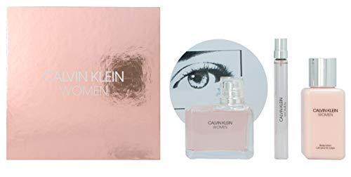 Calvin Klein Women - Woman Set 100 ml EDP & 10 ml EDP & 100 ml Bodylotion