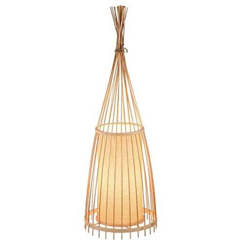 Staande lamp Retro Traditionele Bamboo Floor Lamp, Creative met de hand gemaakt Environmental Protection Schaduw van de lamp Floor Lamp Vloerlamp Plank Lamp LED