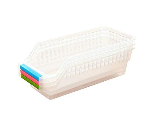 Demarkt–Retención de frigorífico combi Organizador de Cocina Almacenamiento Organizador Caja cesta Color aleatorio