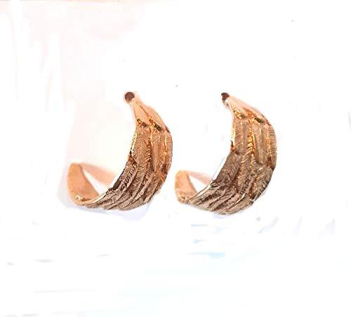 Boucles d'oreilles étalées en bronze doré réf. H20-88768-30S