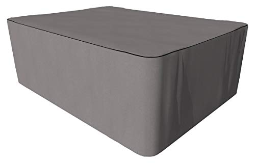 SORARA Schutzhülle gartenmöbel Abdeckung für rechteckigen Tisch Set | Grau | 260 x 200 x 90 cm | wasserabweisend