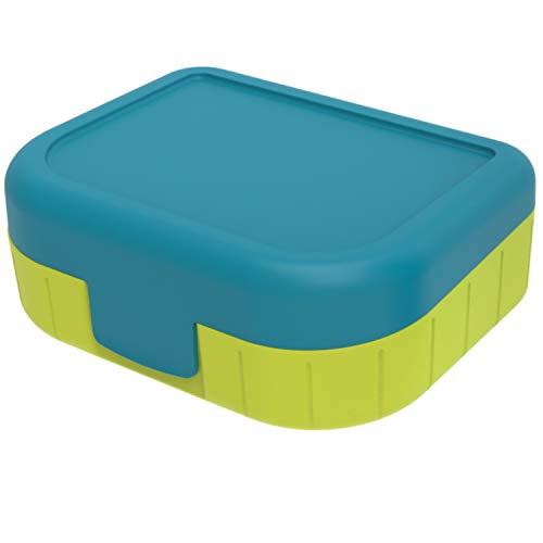 Rotho Memory Kids Vesperdose 1 l, Kunststoff (BPA-frei), Blau, 1 Liter (16,6 x 13,3 x 6,1 cm)