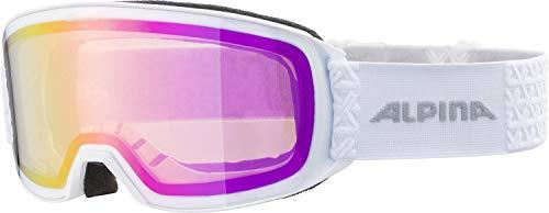 ALPINA NAKISKA Skibrille, Unisex– Erwachsene, white, one size