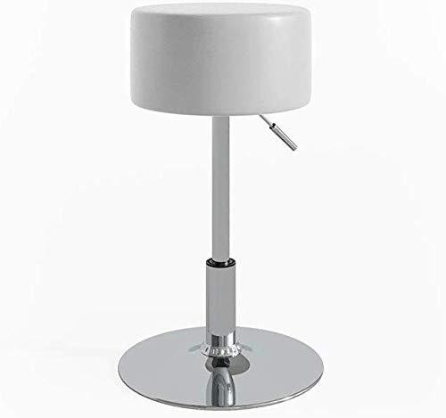 Vicco Design Hocker/Schminkhocker stufenlos höhenverstellbar mit Antirutsch-Sitzbezug aus Kunstleder und verchromten Stahlgestell, Sitzhöhe: 52-67cm