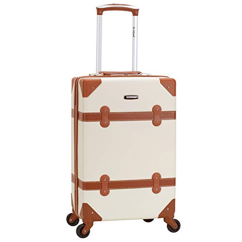 Rockland Stage Coach 20-Inch Rolling Trunk, White