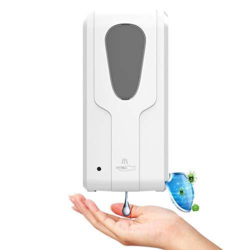 WOERD Dosificador de Jabón Automatico 1000ML Sensor Dosificador Jabón Sin Contacto Dispensador Automático Hidroalcoholico,Diseño de Fuente Alimentación Dual,Apto para Todos Los Lugares