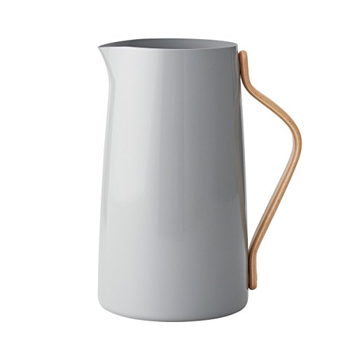 Stelton Wasserkanne, Materialmix, Grau, LxBxH 20x13x23cm