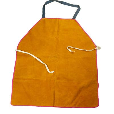 MRCARTOOL Leather Welding Apron Cowhide leather Aprons Thermal Insulation Protection Welders Heat-resistant and Flame-retardant Welding Work Apron for Blacksmith, Welder, Woodworking, Home Decoration